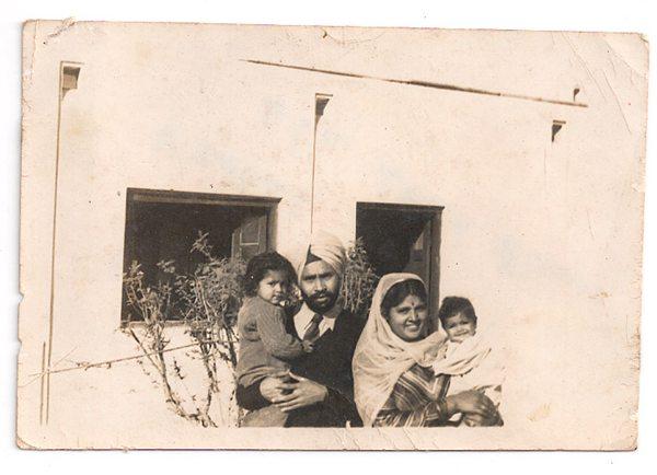 Sher Shah Mess, Delhi 1949 Daljindra, Sham Singh, his wife Ripudaman Kaur, and Neeta. Image: Brij Dogra and Neeta S Singh