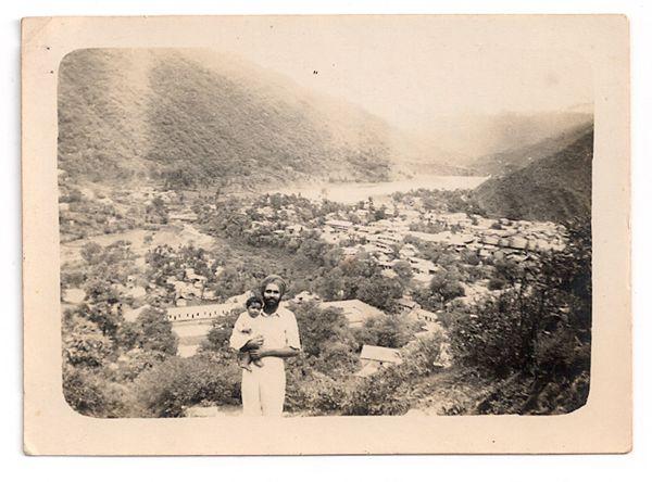 Mandi State 1947: Sham Singh with his son Daljindra Image: Brij Dogra and Neeta S Singh