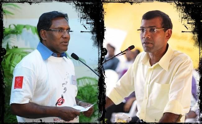 War of Words: (L-R), Waheed and Nasheed
