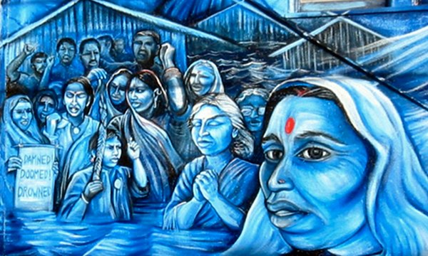 "Men and women from the Narmada valley protesting against the Narmada dam. ""La Llorona's Sacred Waters"", a mural by Juana Alicia on York and 24th in San Francisco.  Flickr: anirvan"