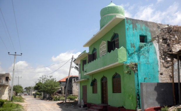 A mosque in bombed-out Jaffna.