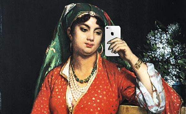 Woman with smartphone, after Jean-Francois Portaels  Flickr / Mike Licht