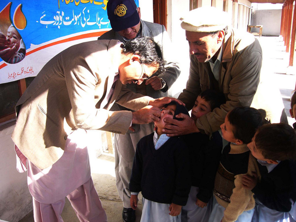 Polio vaccination in Chitral, Khyber Pakhtunkhwa. Flickr / Ground Report