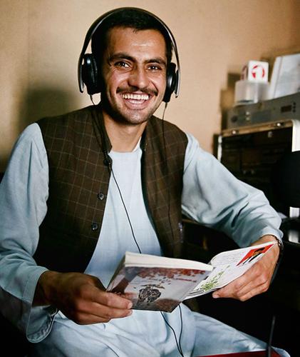 Afghan journalist Qudratulla Samin of Tarin Kowt Radio and Television Station, Uruzgan province Credit: U S Army