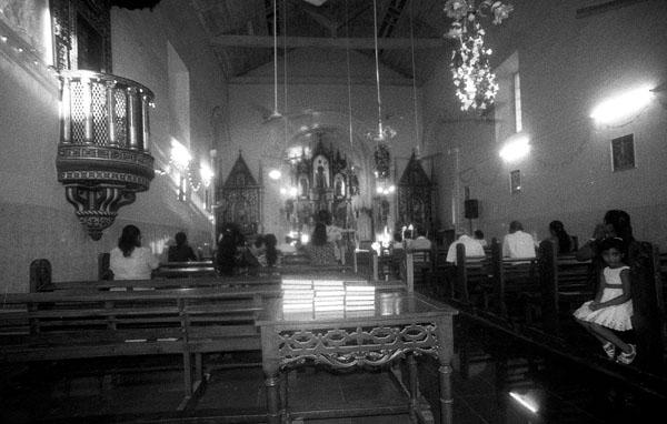 Holy mass at Sao Bras Church.