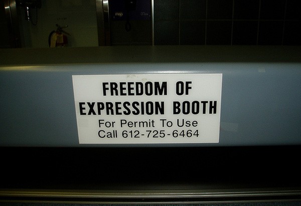 Freedom of Expression Booth Photo: Flickr / Eric and Mary Ellen