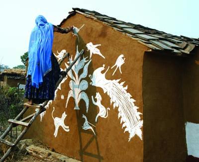 Meena Woman Painting Photo by Madan Meena