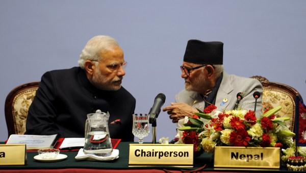 India's PM Narendra Modi and Nepal's PM Sushil Koirala during the SAARC 2014 summit in Kathmandu Photo: XPD Division, MEA India