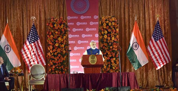 Narendra Modi speaking to the U.S.-India Business Council. Photo: Narendra Modi / Flickr
