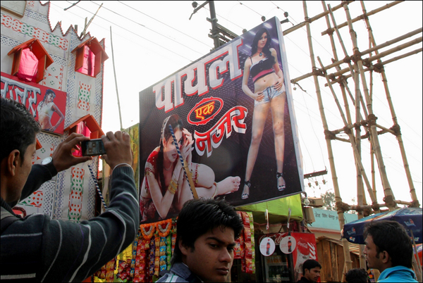 The overriding image of mela is the debauchery of its popular 'theatres'. Photo: Anirban D Choudhury