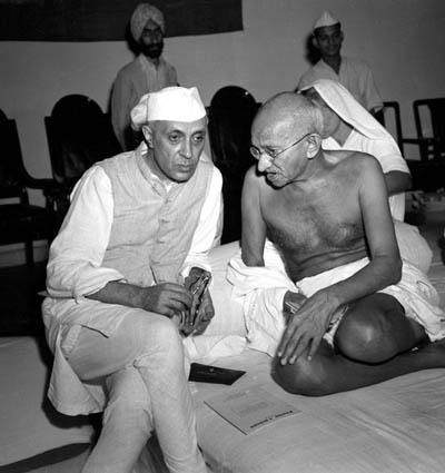 Nehru and Gandhi.