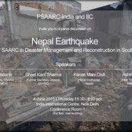 Nepal Earthquake: Role of SAARC in Disaster Management and Reconstruction in South Asia