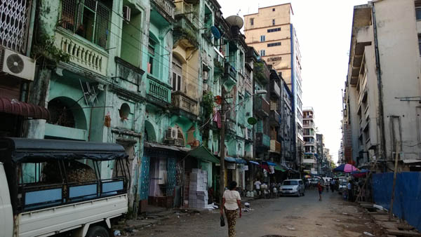 Downtown Yangon Photo: Wikimedia Commons/ Go-Myanmar