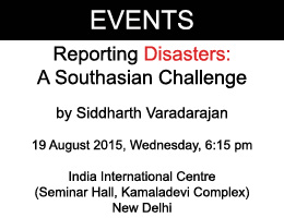 Reporting Disasters: A Southasian Challenge