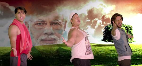 A screengrab from Pahlaj Nihalani's music video 'Mera Desh Hai Mahaan'. Source: Youtube / Pahlaj Nihalani