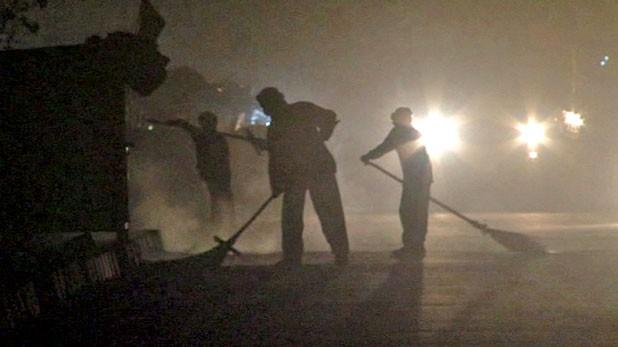 Opening scene of Dusty Night.