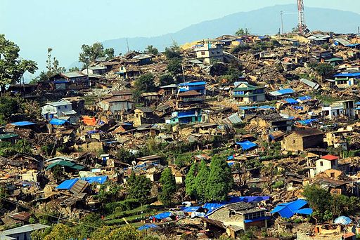 Barpark, Gorkha. The epicentre of the 2015 Nepal earthquake. Photo: Prabina Karki/ Wikimedia Commons