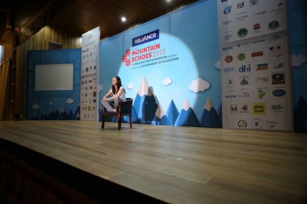 Kalki Koechlin at the 2015 Mountain Echoes Literary festival. Photo Credit: Mountain Echoes Facebook page/ Phub Tshering