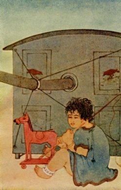 "A drawing by Nandalall Bose illustrating Tagore's short story ""The Hero"". Photo credit: Wikimedia Commons/eldritchpress.org"