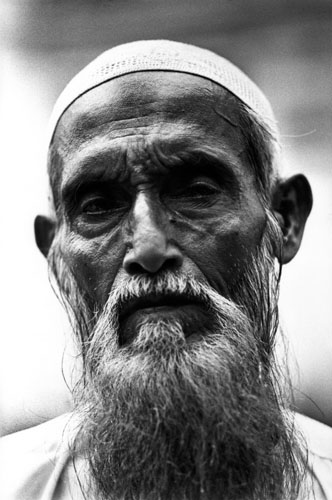 Rohingya man at Jama mosque in Sittwe, Arakan State, Burma. Photo: Nic Dunlop