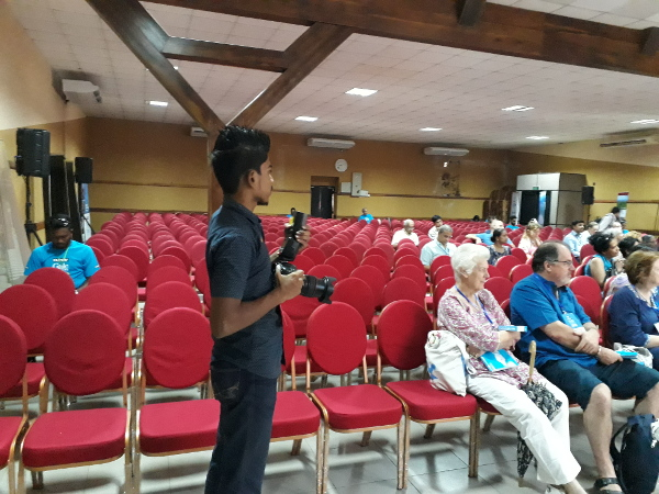 From the festival's first session featuring David Dabydeen, the Guyanese-born novelist, poet and academic.