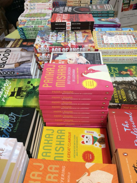 Books by the authors attending festival for sale.