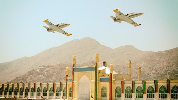 A pair of L-39 trainer aircrafts used by the Afghar Air Force. Photo credit: RA.AZ / Flickr