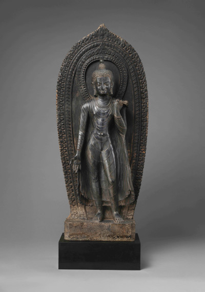 The 10th-century Standing Buddha, from a memorial stupa in Yatkhatol, Kathmandu, stolen in 1986. The statue was returned to Nepal on 4 April 2018 by New York's Metropolitan Museum of Art. Photo: Ministry of Foreign Affairs, Nepal.