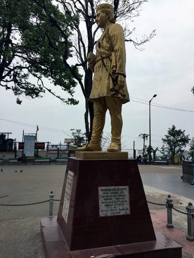 The statue of Bhanubhakta Acharya – considered the first poet of the Nepali language – in the public square overlooking Darjeeling. Photo: Manjushree Thapa