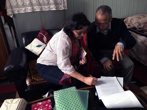 The writer with Indra Bahadur Rai. Photo: Rita Thapa