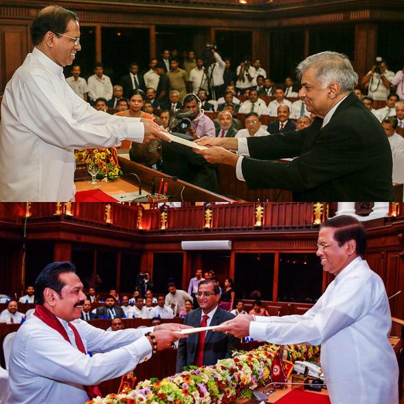 Photo derived from: presidentgovlk/Flickr and president.gov.lk