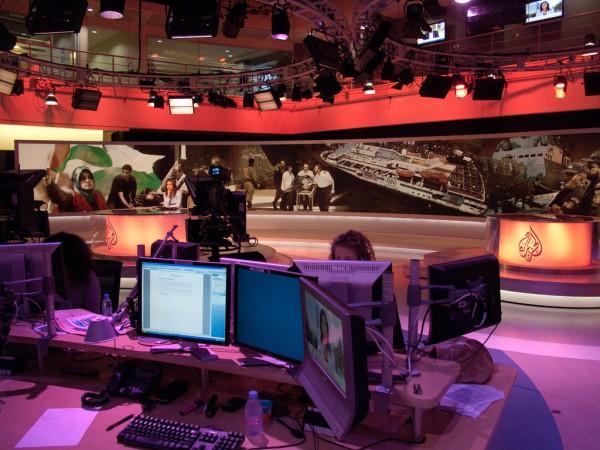 Inside the Al Jazeera broadcast center in Doha. Photo: Paul Keller / Flickr