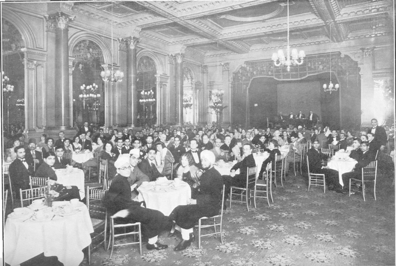 Muslim Society of Great Britain celebrating birthday of Prophet Mohammad at the Hotel Metropole, Northumberland Avenue, London, on 30 September 1930. (The Islamic Review, November 1930) Photo: Ahmadiyya Anjuman Isha'at Islam Lahore (U.K.)